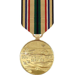 Full Size Medal: Southwest Asia - 24k Gold Plated