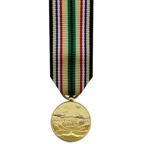 Miniature Medal: Southwest Asia Service - 24k Gold Plated