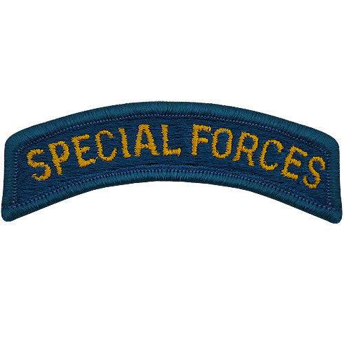 Army Embroidered Tab: Special Forces - color