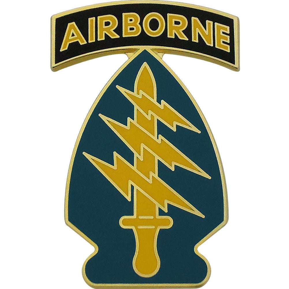 Army Combat Service Identification Badge (CSIB): Special Forces Group with Airborne Tab