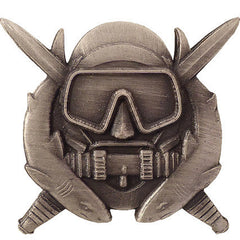 Army Badge: Special Operation Diver - regulation size, oxidized finish