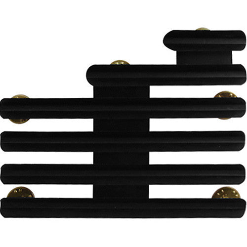 Ribbon Mounting Bar: 15 Ribbons Staggered Right - 1/8 inch space