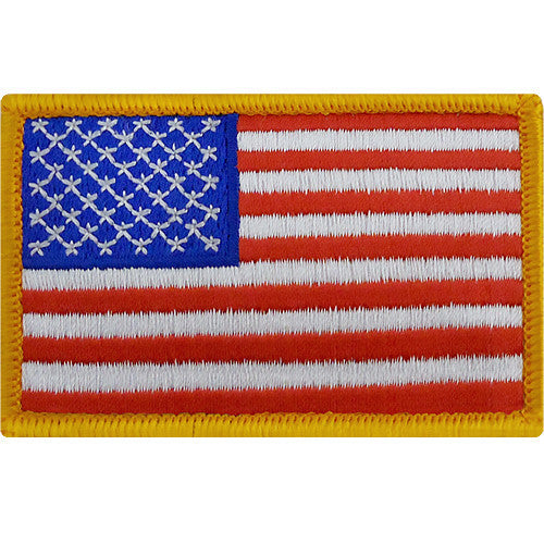Flag Patch: United States of America - hook closure gold edge