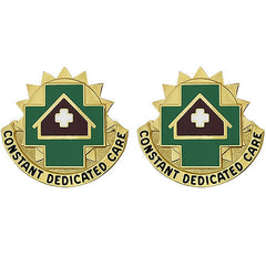 Army Crest: MEDDAC Fort Leavenworth - Constant Dedicated Care