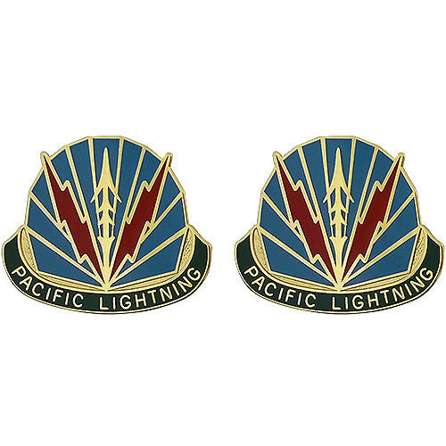 Army Crest: Military Police Brigade Hawaii - Pacific Lightening
