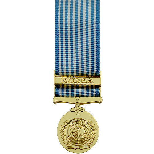 Miniature Medal- Anodized: United Nations Service