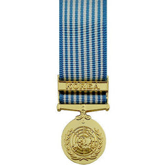 Miniature Medal- 24k Gold Plated: United Nations Service