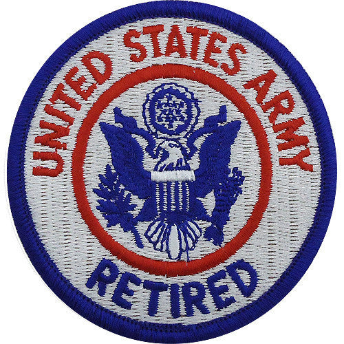 Army Patch: U.S. Army Retiree - color