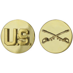Army Enlisted Branch of Service Collar Device: U.S. and Cavalry