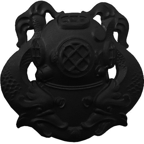 Army Badge: Diver First Class - black metal