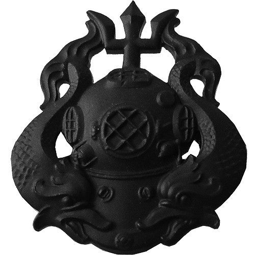 Army Badge: Master Diver - black metal