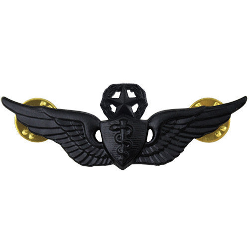 Army Badge: Master Flight Surgeon - regulation size, black metal