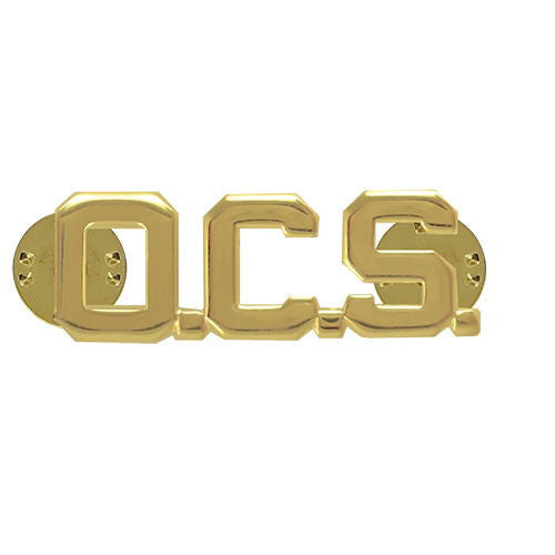 Army Officer Branch of Service Collar Device: OCS - 22k gold plated