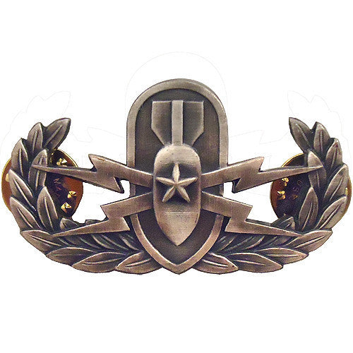 Navy Badge: Senior Explosive Ordnance Disposal - regulation, oxidized