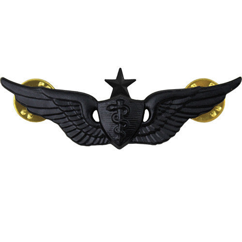 Army Badge: Senior Flight Surgeon - regulation size, black metal