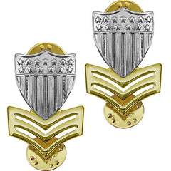 Coast Guard Metal Collar Device: E6 Petty Officer