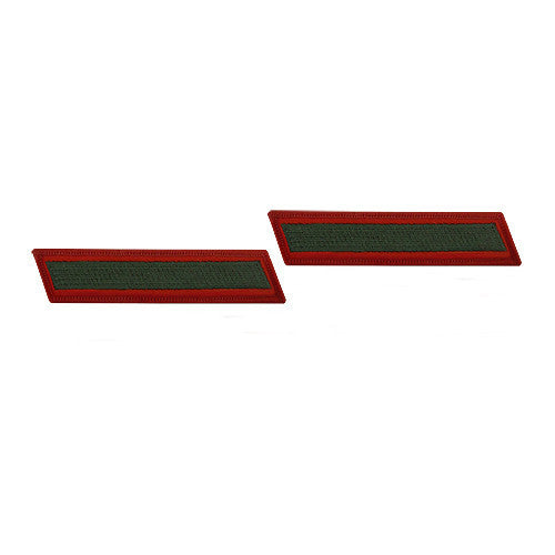 Marine Corps Service Stripe: Female - green on red, set of 1