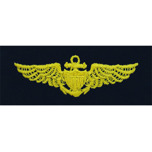 Navy Embroidered Badge: Aviator - embroidered on coverall