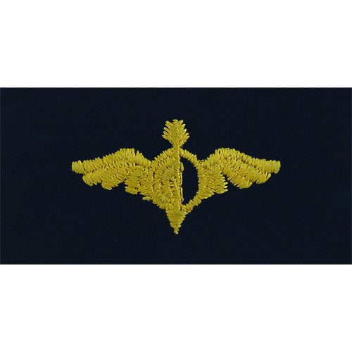 Navy Embroidered Collar Device: Aerographer - embroidered on coverall