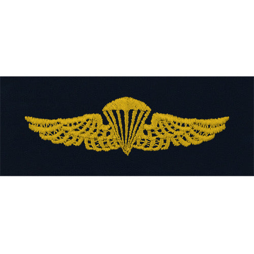 Navy Embroidered Badge: Parachutist - embroidered on coverall