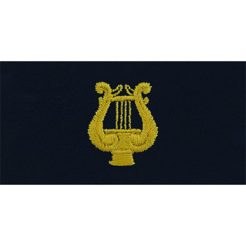 Navy Embroidered Collar Device: Band Leader - embroidered on coverall