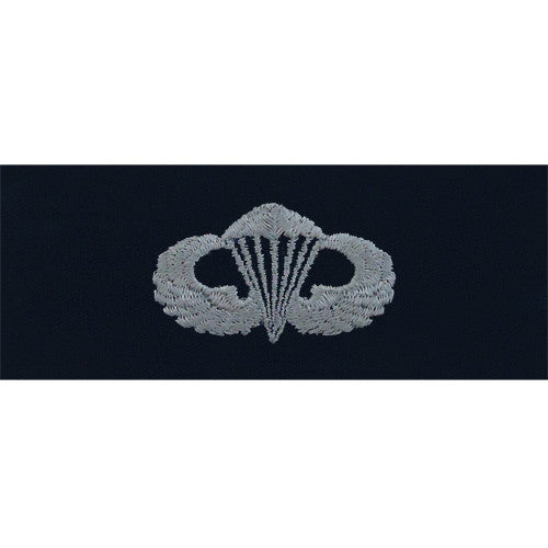 Navy Embroidered Badge: Parachute Basic - embroidered on coverall