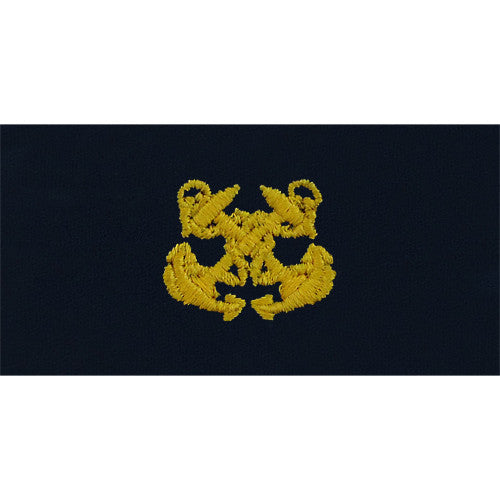 Navy Embroidered Collar Device: Boatswain - embroidered on coverall