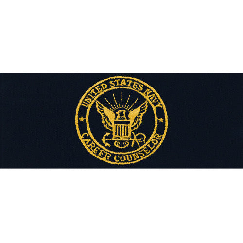 Navy Embroidered Badge: Career Counselor - embroidered on coverall