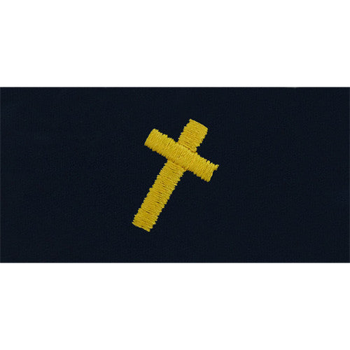 Navy Embroidered Collar Device: Christian Chaplain - coverall