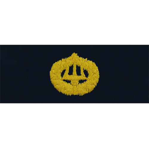 Navy Embroidered Badge: Command Ashore - embroidered on coverall
