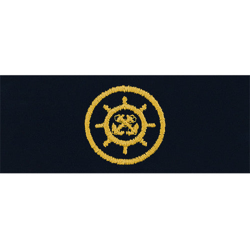 Navy Embroidered Badge: Craftmaster - embroidered on coverall