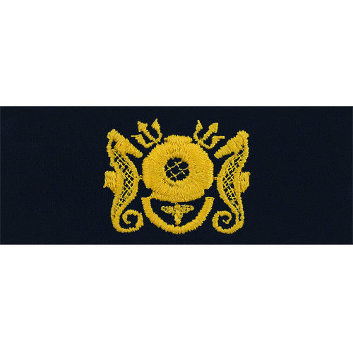 Navy Embroidered Badge: Diving Medical Officer - coverall