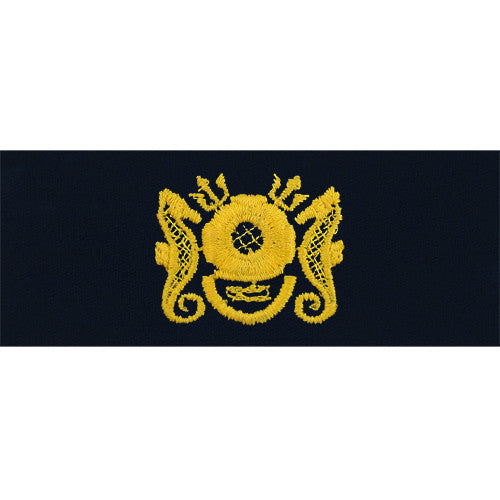 Navy Embroidered Badge: Diving Officer - embroidered on coverall