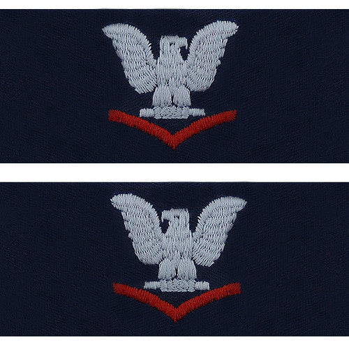 Navy Embroidered Collar Device: E4 Third Class - coverall