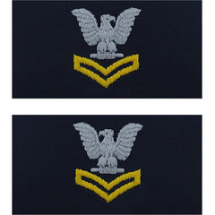 Navy Embroidered Collar Device: E5 Second Class Petty Officer - coverall