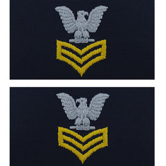 Navy Embroidered Collar Device: E6 First Class Petty Officer - coverall