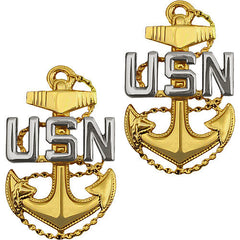 Navy Collar Device: E7 Chief Petty Officer - pin back