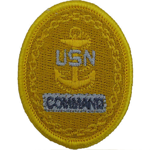 Navy Embroidered Badge: E7 Command - embroidered on coverall