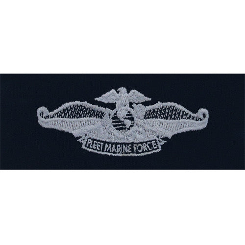 Navy Embroidered Badge: Fleet Marine Force - embroidered on coverall