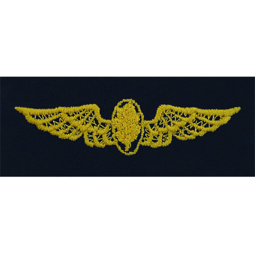 Navy Embroidered Badge: Flight Nurse - embroidered on coverall