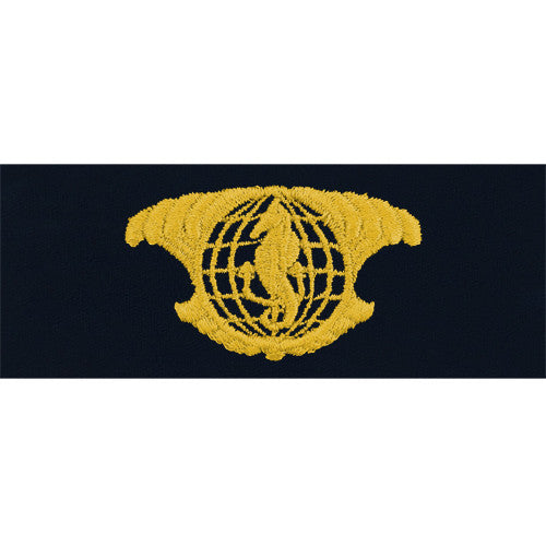 Navy Embroidered Badge: IUSS Officer - embroidered on coverall