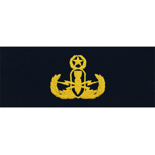 Navy Embroidered Badge: Explosive Ordnance Disposal Officer - coverall