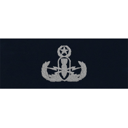 Navy Embroidered Badge: Master Explosive Ordnance Disposal - coverall