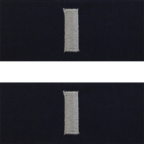 Navy Embroidered Collar Device: Lieutenant Junior Grade - coverall