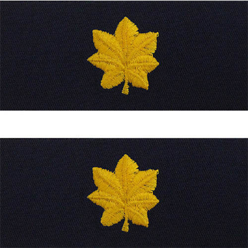 Navy Embroidered Collar Device: Lieutenant Commander - coverall