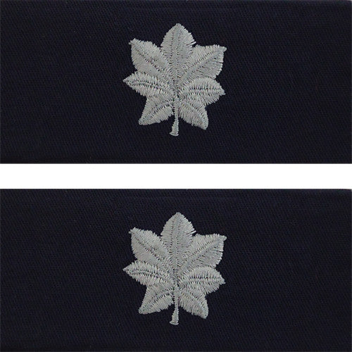 Navy Embroidered Collar Device: Commander - embroidered on coverall