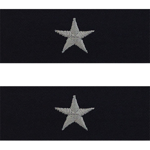Navy Embroidered Collar Device: Rear Admiral Lower - coverall
