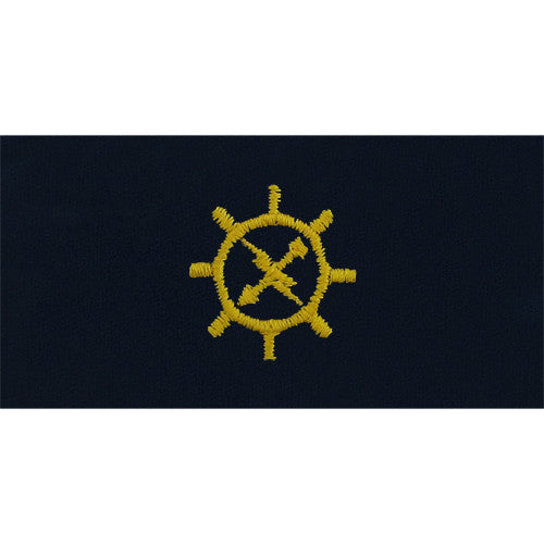 Navy Embroidered Collar Device: Operations Technician - coverall