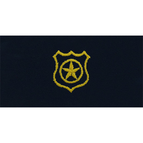 Navy Embroidered Collar Device: Physical Security - coverall