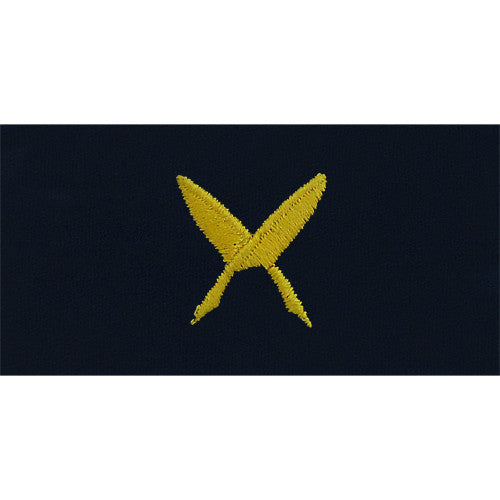 Navy Embroidered Collar Device: Ships Clerk - embroidered on coverall